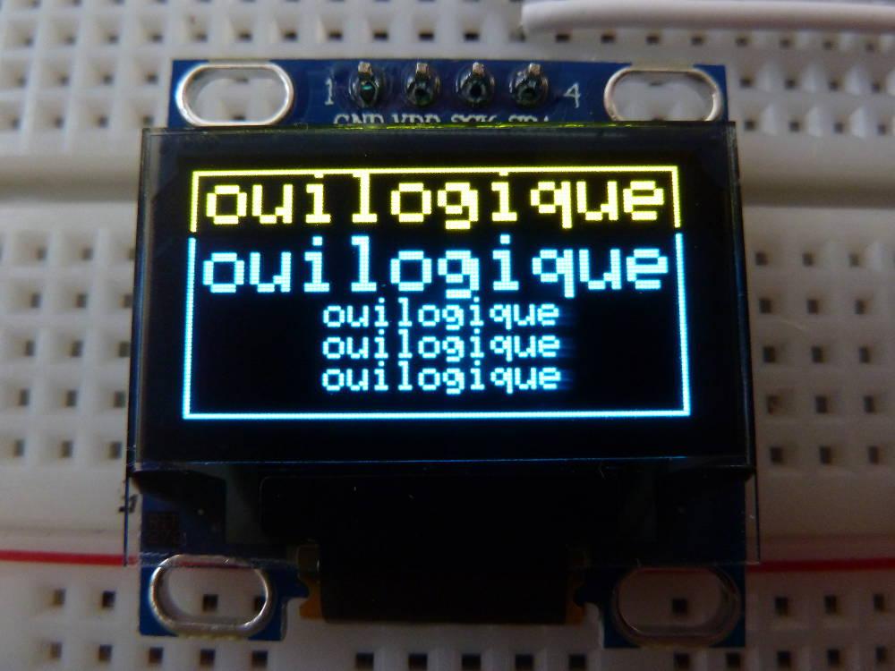Test d un cran oled 128 64 i c for Test ecran photo