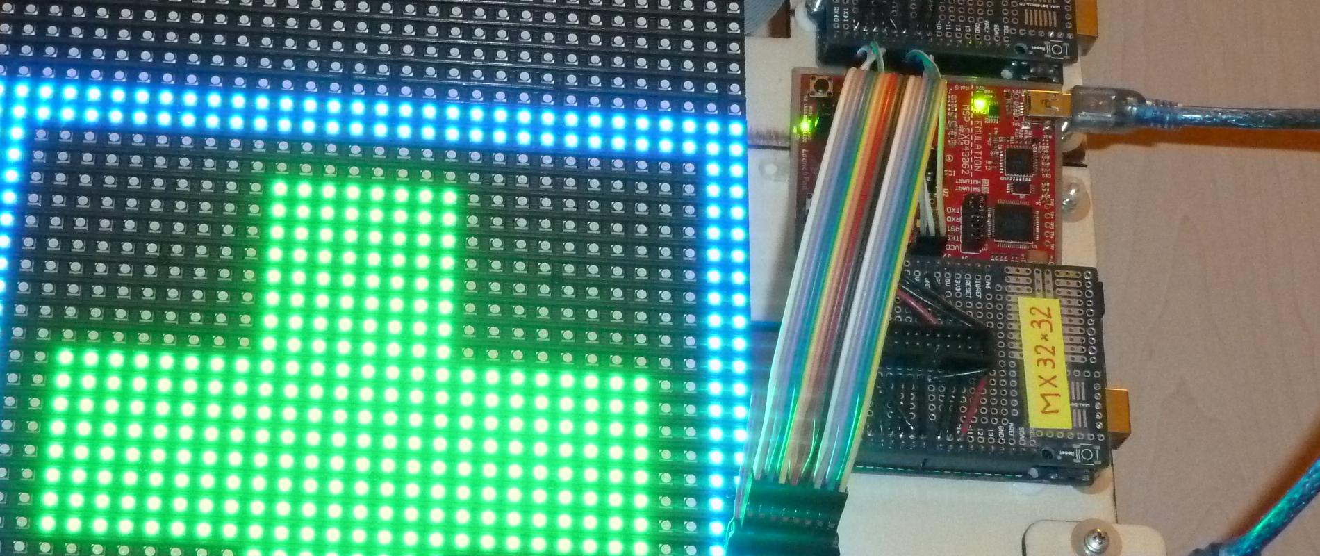 Commande d'une matrice 32×32 avec un MSP430